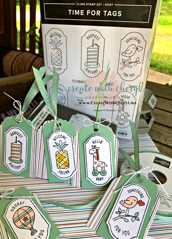 Time for Tags #createwithcheryl #timefortags #Bloghop #subloghop #suachieversbloghop #greekislesachieversbloghop #stampinup