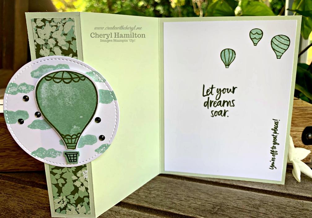 #kre8torsbloghop #kbh #createwithcheryl #cherylhamilton #stampinup #handmadecard #graduation #abovetheclouds #funfolds