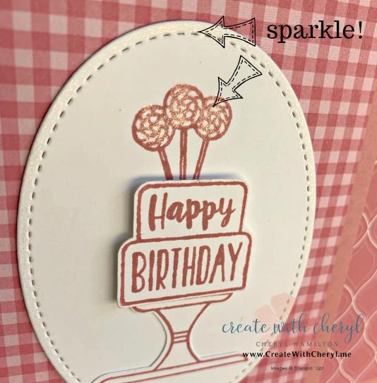 #createwithcheryl #pieceofcake #cakebuilderpunch #stampinup #cherylhamilton #giftcardholder #birthdaycard