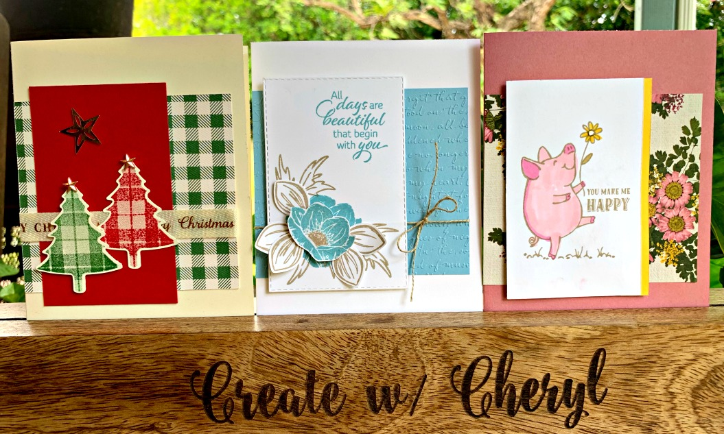 Card Layout Class #createwithcheryl #stampinup