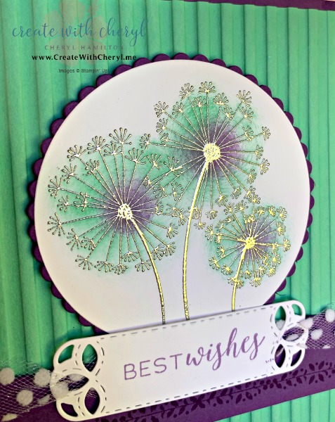 Emboss Resist Technique #CreateWithCheryl #stampinup #embossresist #dandilionwishews