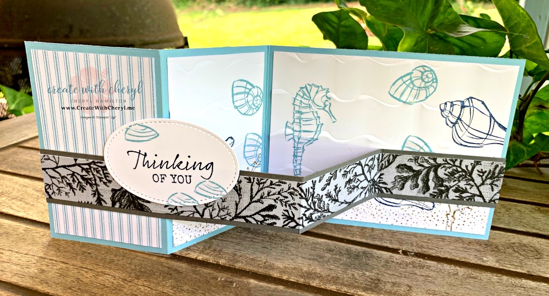 #createwithcheryl #cherylhamilton #seasidenotions #stampinup #handmadecards #islandhoppers