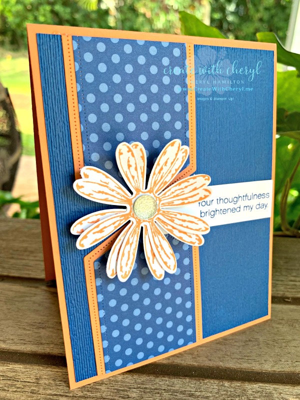 Sept Card Layout #createwithcheryl #CWC17 #stampinup #handmadecards #daisydelight