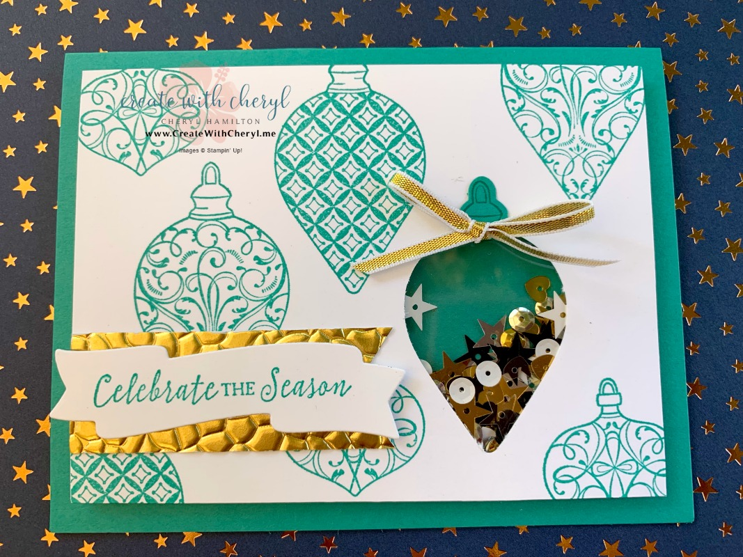 #shakercard #createwithcheryl #christmasgleaming #diychristmascard
