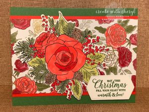 Christmastime is Here Suite! Floral, festive, and filled with creative possibilities! Available while supplies last… CreateWithCheryl.me #ChristmasRose #Christmastime is Here Suite #CreateWithCheryl