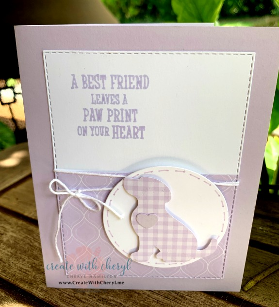 #createwithcheryl #icsbloghop #happytails #guidedogs #stampinup