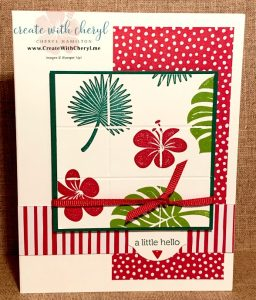 Delft Tile Card #CreateWithCheryl #tropicalchic
