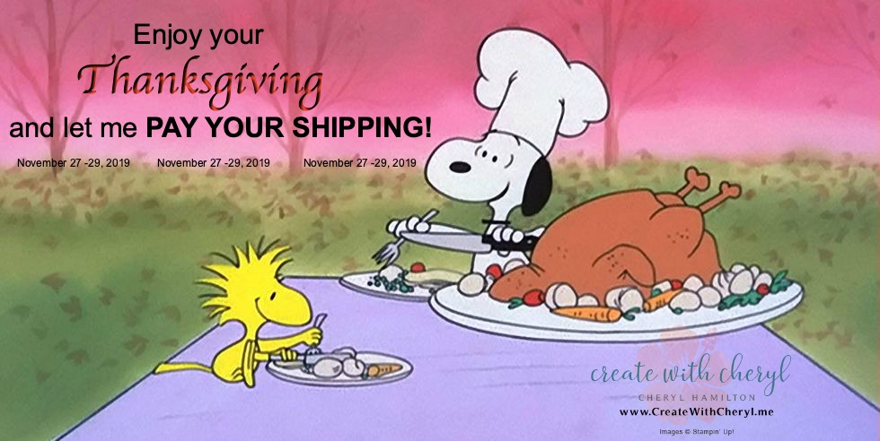 Thanksgiving Free Shipping Create With Cheryl #freeshipping #createwithcheryl