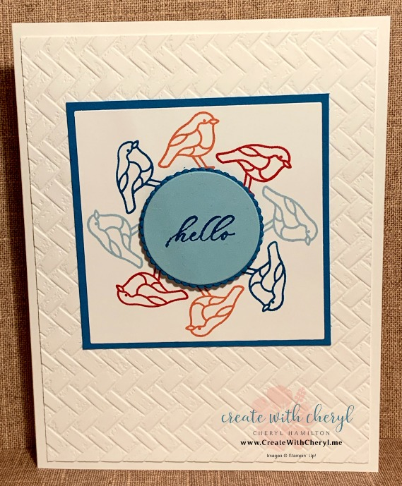 Stamping in the Round Technique #createwithcheryl