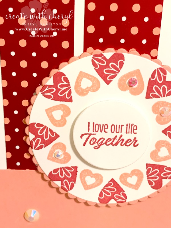 Stamping in the Round Technique #valentine #createwithcheryl #handmadecards #Valentinecards