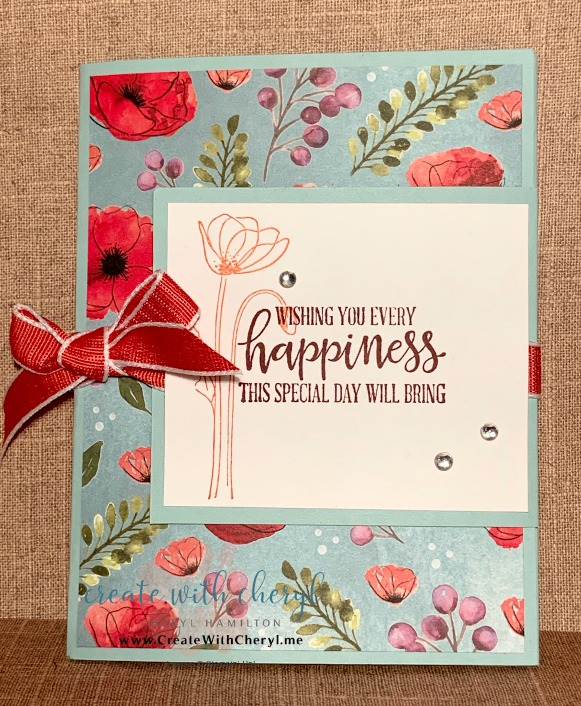 Painted Poppies Fun Fold #createwithcheryl #paintedpoppies