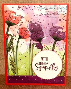 Peaceful Poppies #createwithcheryl #GDP222 #simplestamping