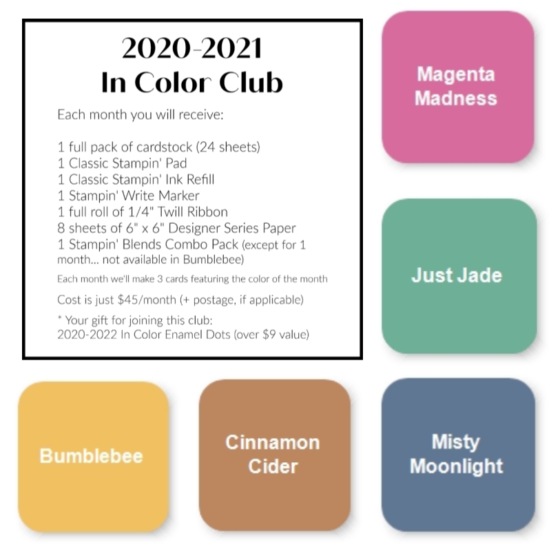 Cheryl Hamilton 2020-2021 In Color Club