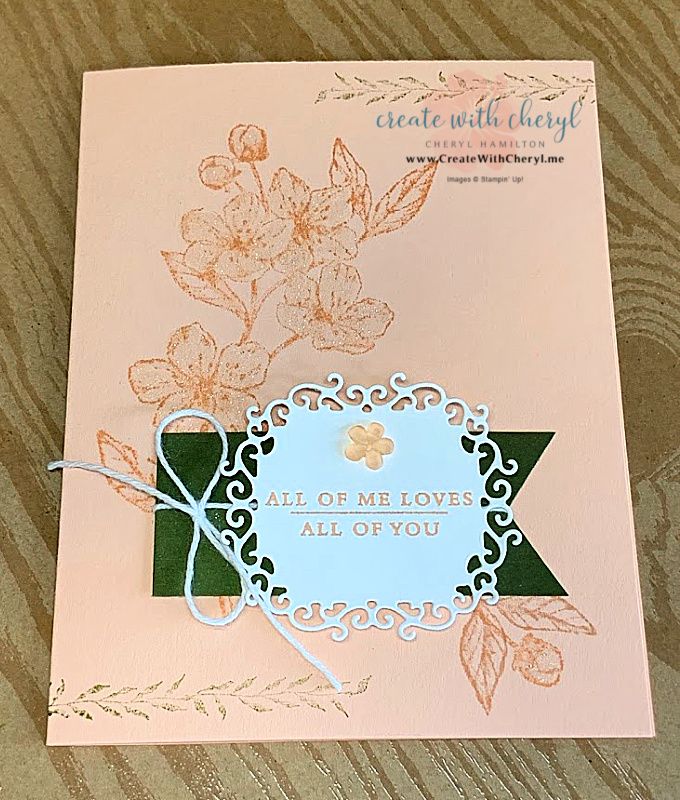 Pink and green card using Forever Blossoms Stamp Set