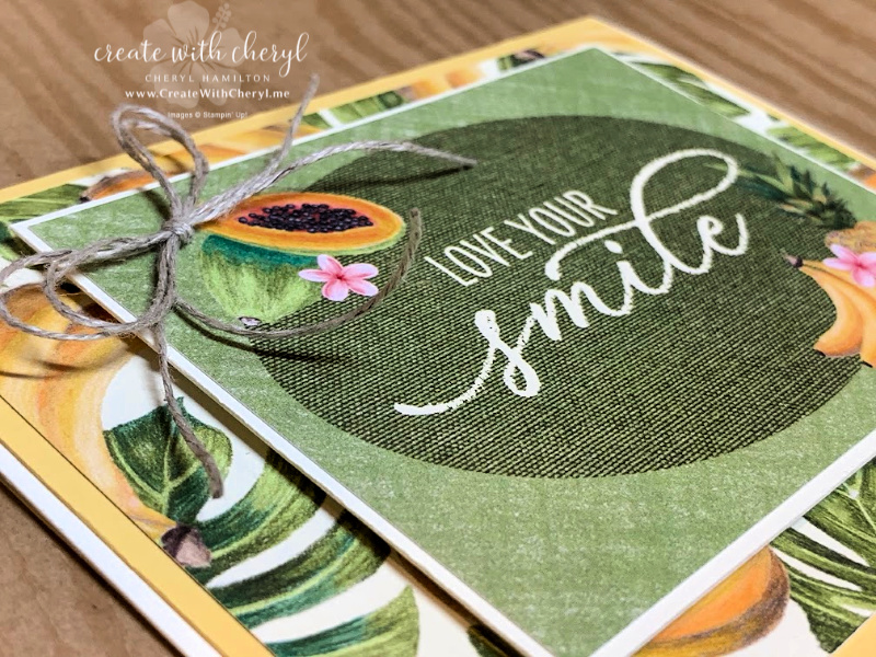 Tropical love your smile card